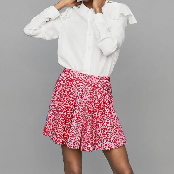 Plissee-Kleid mit Leoparden-Print : Bekleidung farbe IMPRIME