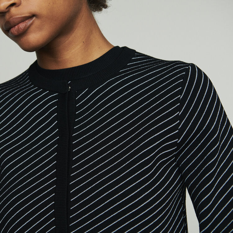 Kurzer Cardigan mit Streifen : Pullover & Strickjacken farbe Gestreift