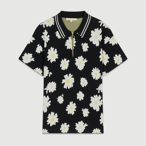 Jacquard-Pullover mit Margariten-Print : Strickwaren farbe Jacquard