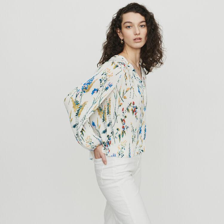 Plissee Top mit Schmuck-Einsätzen : Tops & Hemden farbe IMPRIME