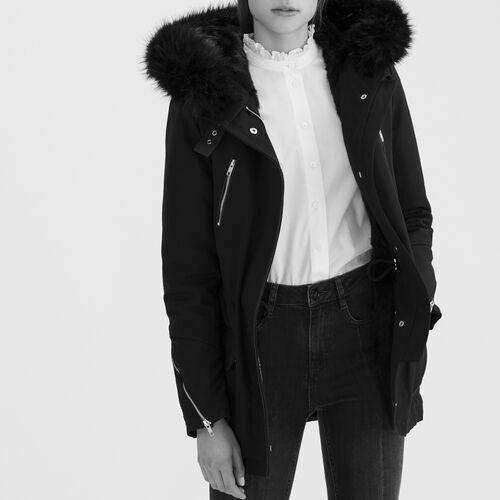 Parka aus Baumwolltuch : Manteaux farbe Schwarz