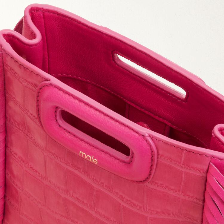Mini-M-Tasche aus Krokodilleder : M Mini farbe Rosa