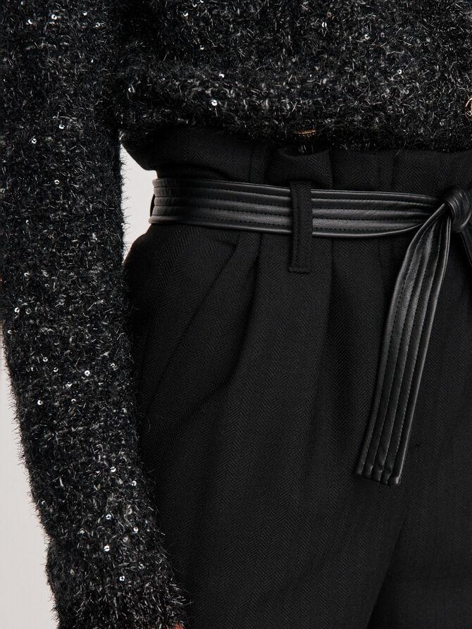 Weite Hose mit Gürtel - Hosen & Jeans - MAJE