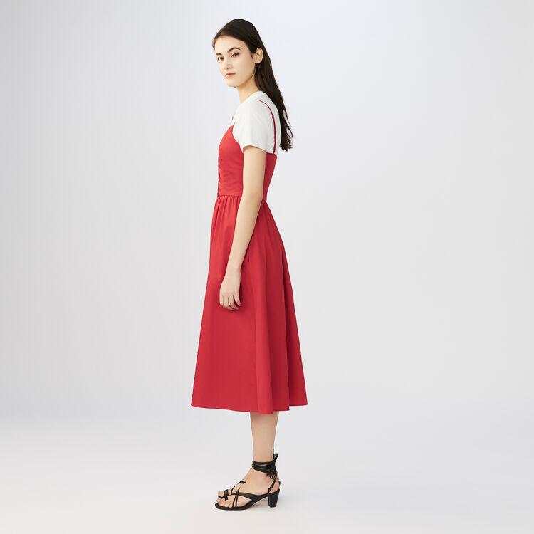 Langes Kleid mit Crop Top : Full Summer farbe ROUGE