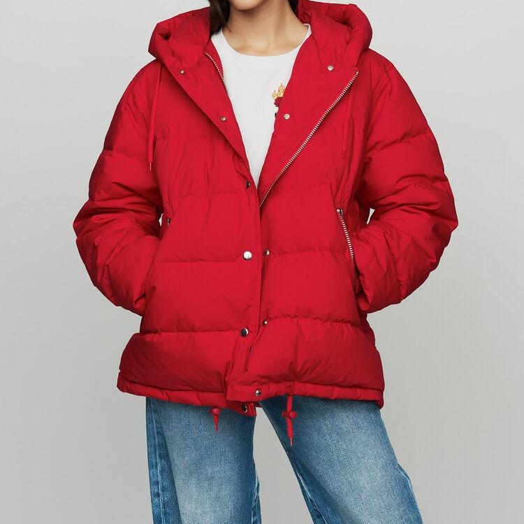 Daunenjacke mit Reißverschluss : Mäntel farbe Rot
