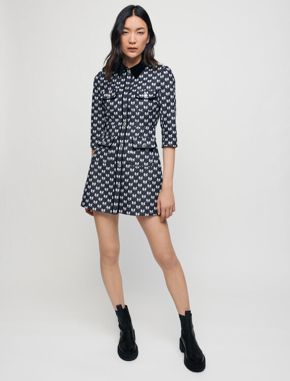 Jacquardkleid mit Schleifen - Kleider - MAJE