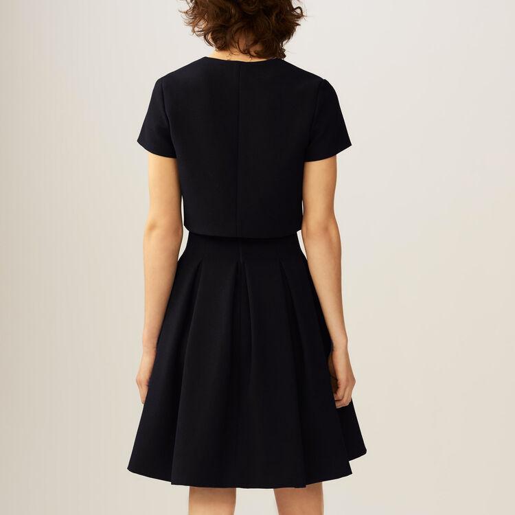 Corolla-Kleid mit Trompe-l'oeil-Effekt : Kleider farbe Schwarz