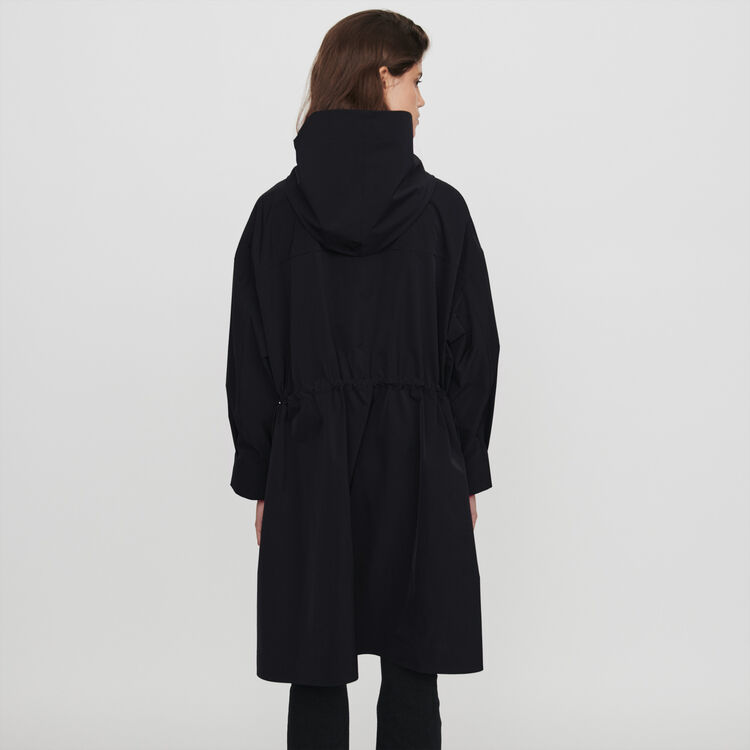 Windjacke mit Kapuze : Mäntel & Jacken farbe Schwarz
