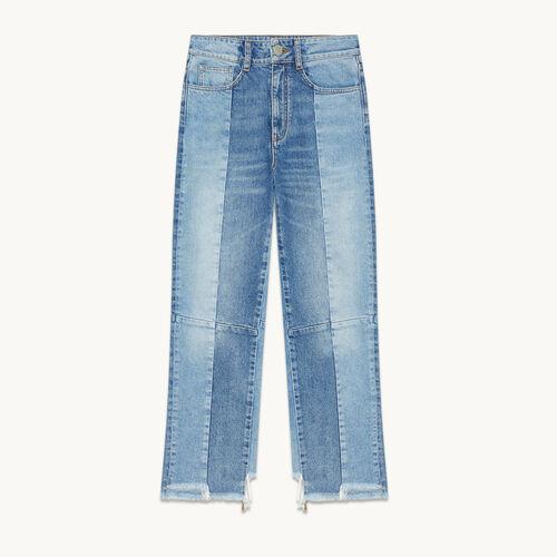 Gerade Jeans aus verwaschenem Denim - null - MAJE
