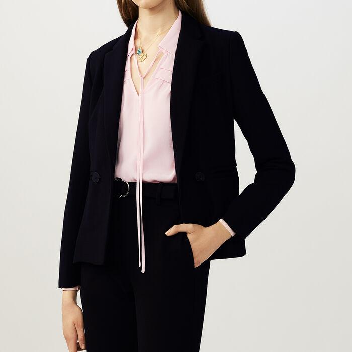 Kurze Jacke im Anzugstil : Office girl farbe Schwarz