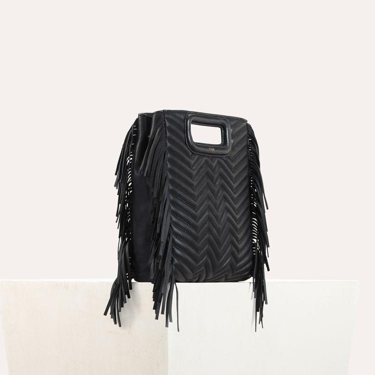 M Tasche aus gestepptem Leder : Rouge farbe Schwarz