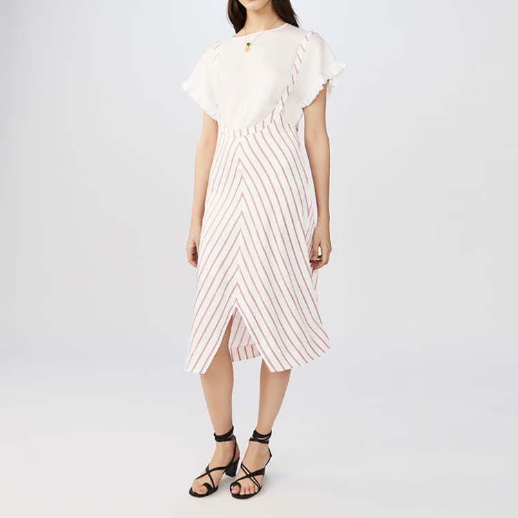 Gestreiftes Trägerkleid : Kleider farbe Gestreift