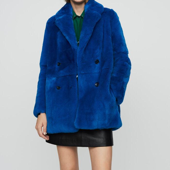 Kurzer Pelzmantel : Mäntel farbe Blau