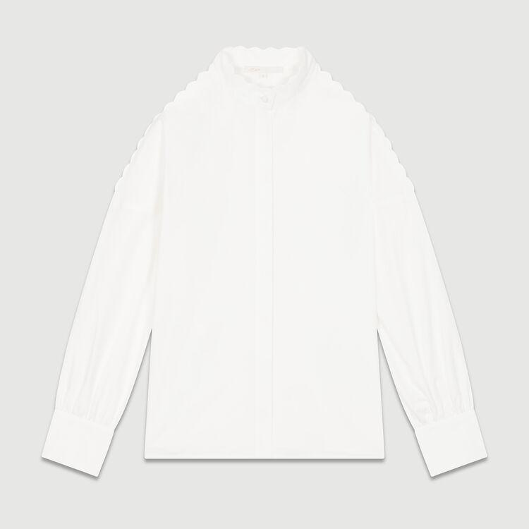 Hembluse aus baumwolle : Hemden farbe Weiss