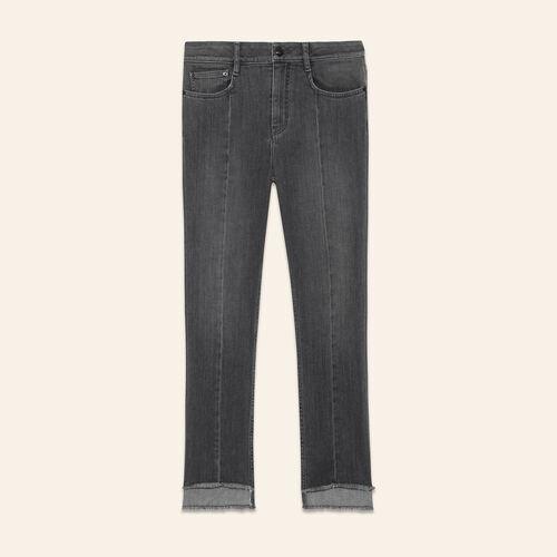 Jeans mit asymmetrischer Länge - Jeans - MAJE