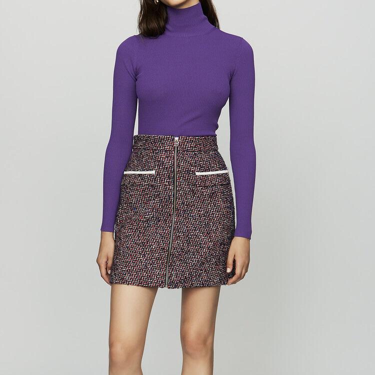 Kurzer Tweed-Rock : Röcke & Shorts farbe Jacquard