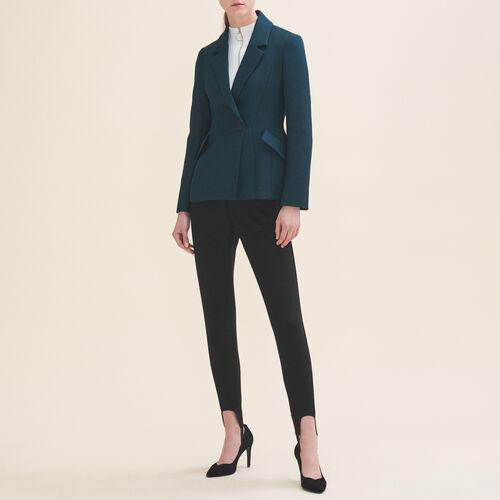 Strukturierte Jacke mit Schößchen : Jacken und Blousons farbe VERT