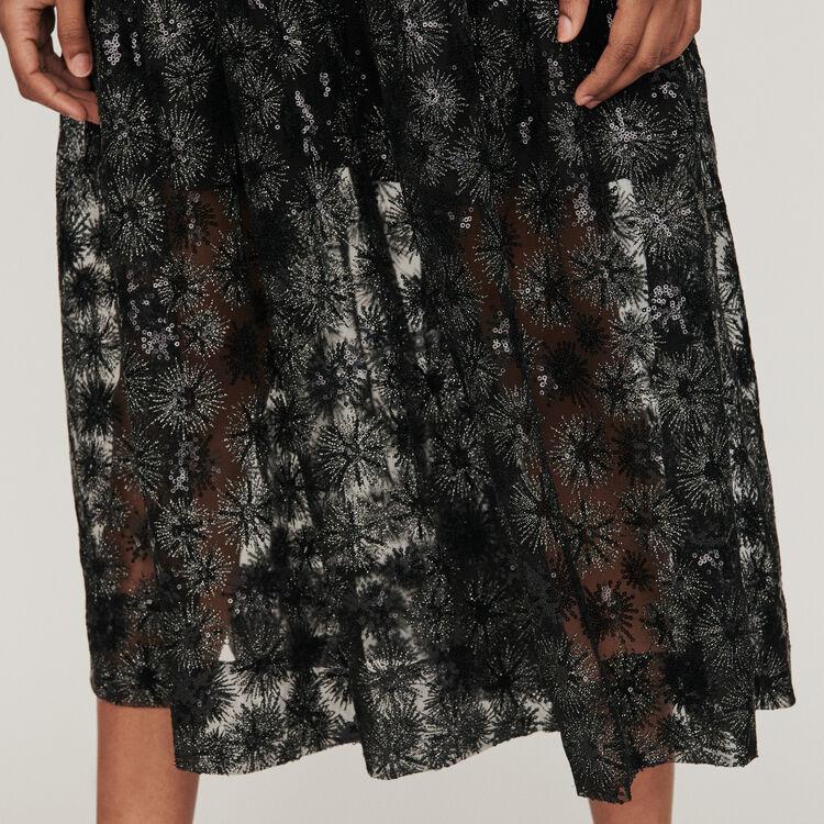 Tüll Rock mit Pailletten : Röcke & Shorts farbe Schwarz