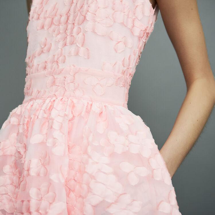 Ärmelloses Kleid aus Basket-Strick : Kleider farbe Rosa