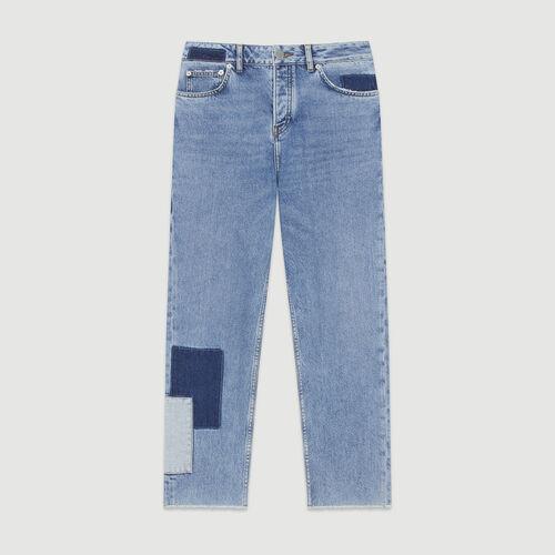 Gerade Jeans mit Aufsätzen : Jeans farbe Blau