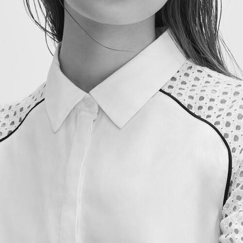 Bluse aus Spitze - Tops - MAJE