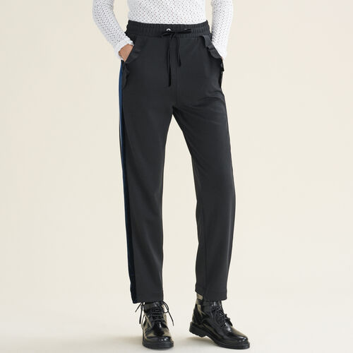 Gerade geschnittene Hose im Joggingstil : Alles einsehen farbe Schwarz