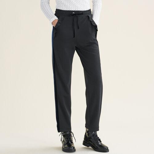 Gerade geschnittene Hose im Joggingstil : Pantalons & Jeans farbe Schwarz
