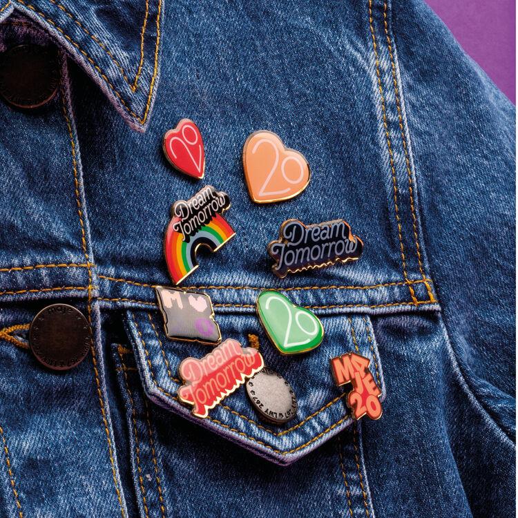 Pins X 20 jahre : Gadgets farbe Mehrfarbigen