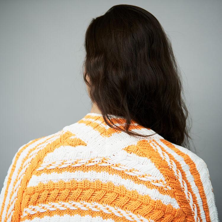 Oversize-Cardigan aus zweifarbigem : Strickwaren farbe Mehrfarbigen