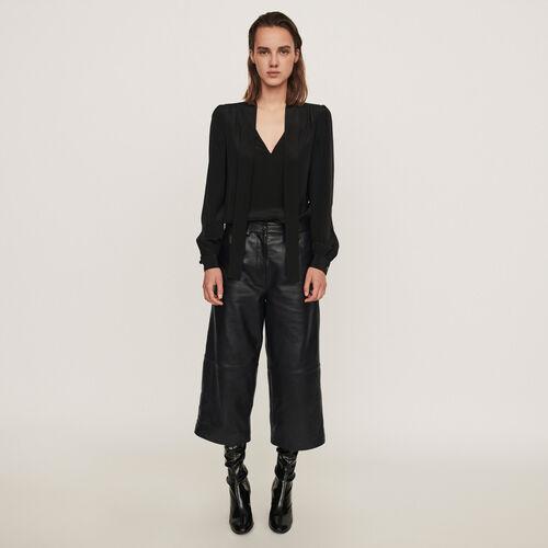 Bermuda Hose aus Leder : Winter Kollektion farbe Schwarz