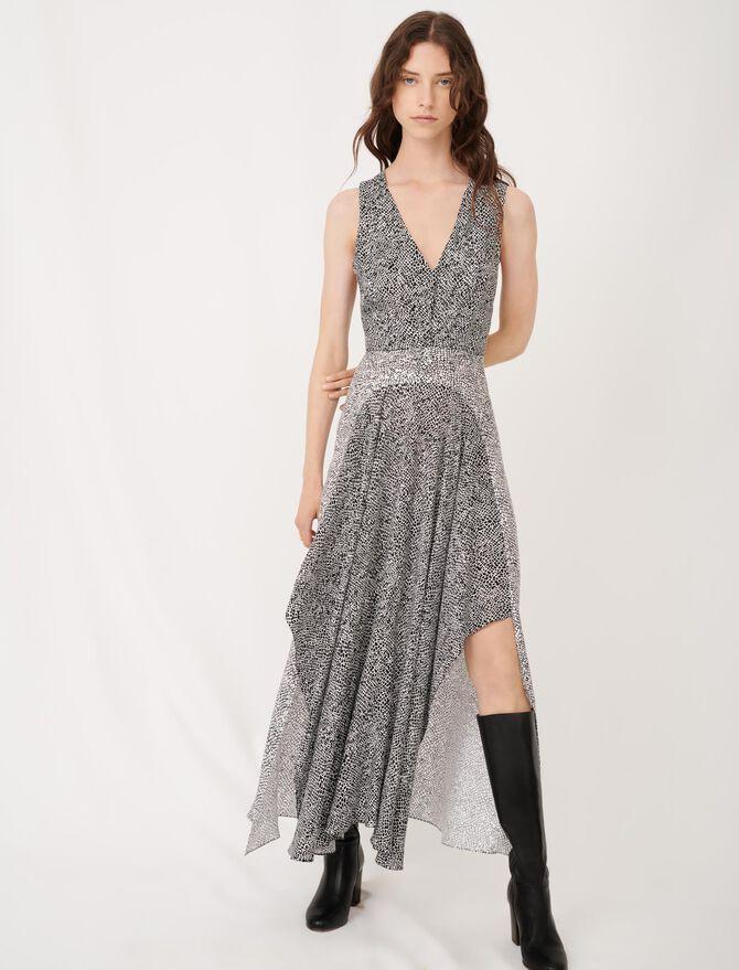 Festliches Kleid mit Animalprint - Kleider - MAJE