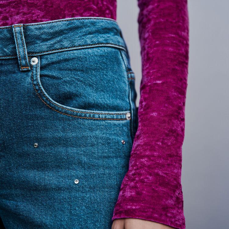 Strass Jeans : Hosen & Jeans farbe Blau