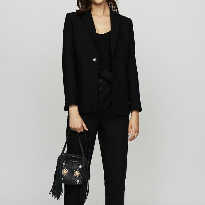 Blazer mit Druckknöpfen : Blazers farbe Schwarz