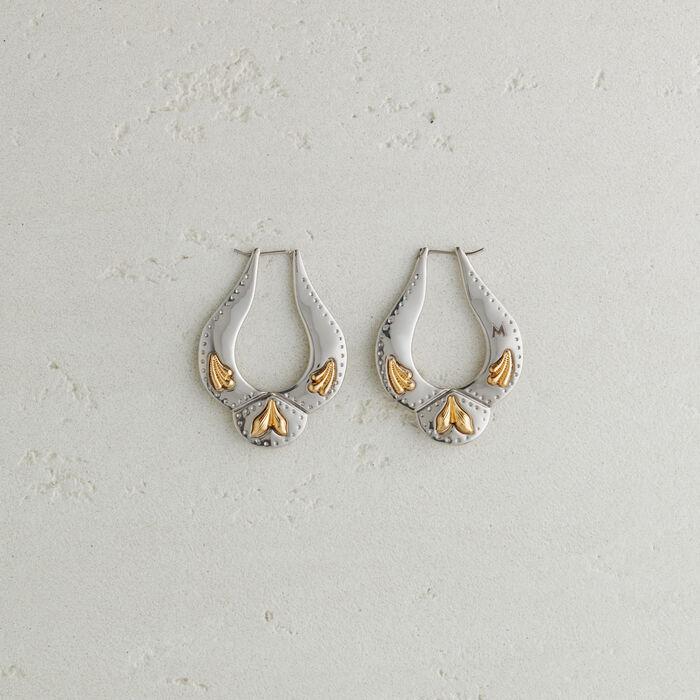Ohrringe im Western-Stil : Schmuck farbe Silber