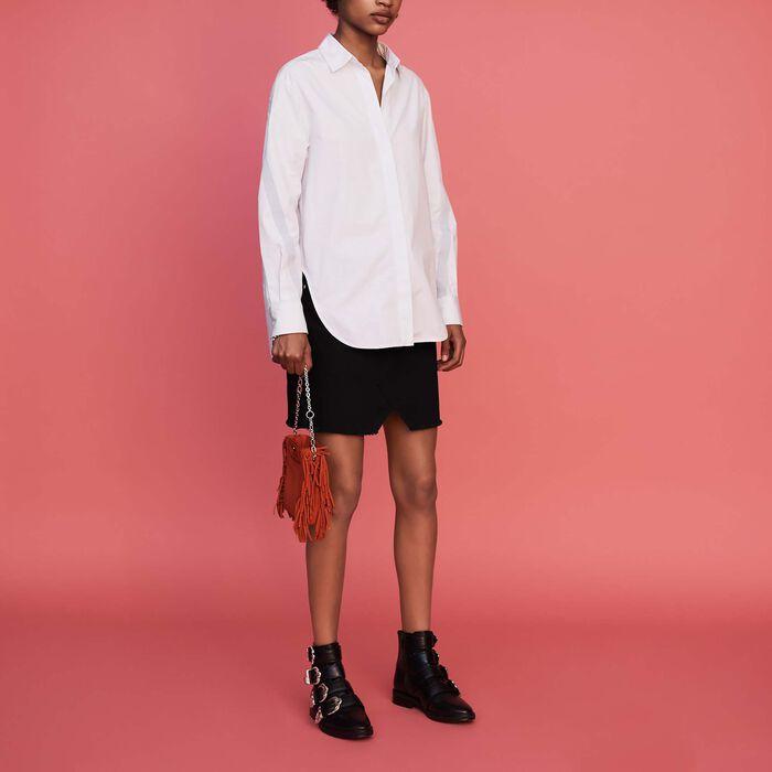 Oversize-Hemd mit Grosgrain : Bekleidung farbe Himmelblau
