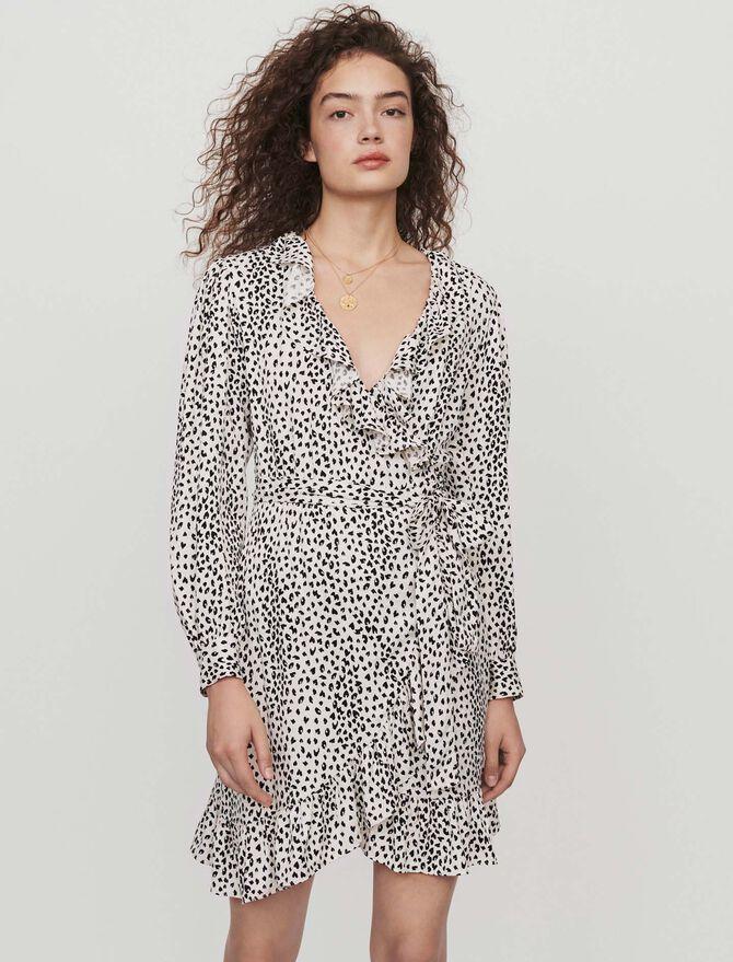 Cache-Coeur Kleid mit Jacquard Print - SoldesFR_ALL - MAJE