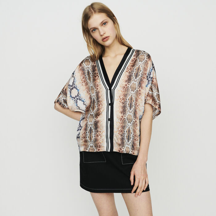 Hemd mit Python-Print : Tops & Hemden farbe IMPRIME