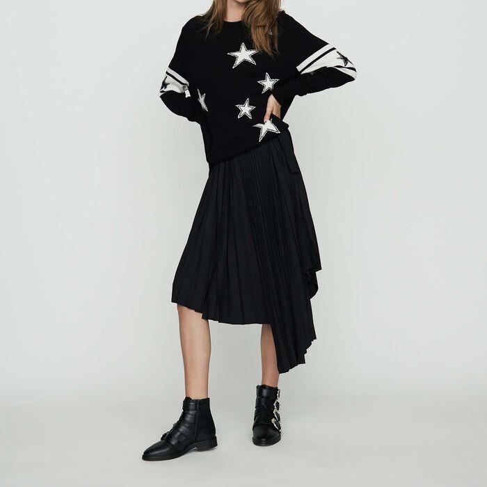 Zweifarbiger Pullover : Strickwaren farbe Schwarz