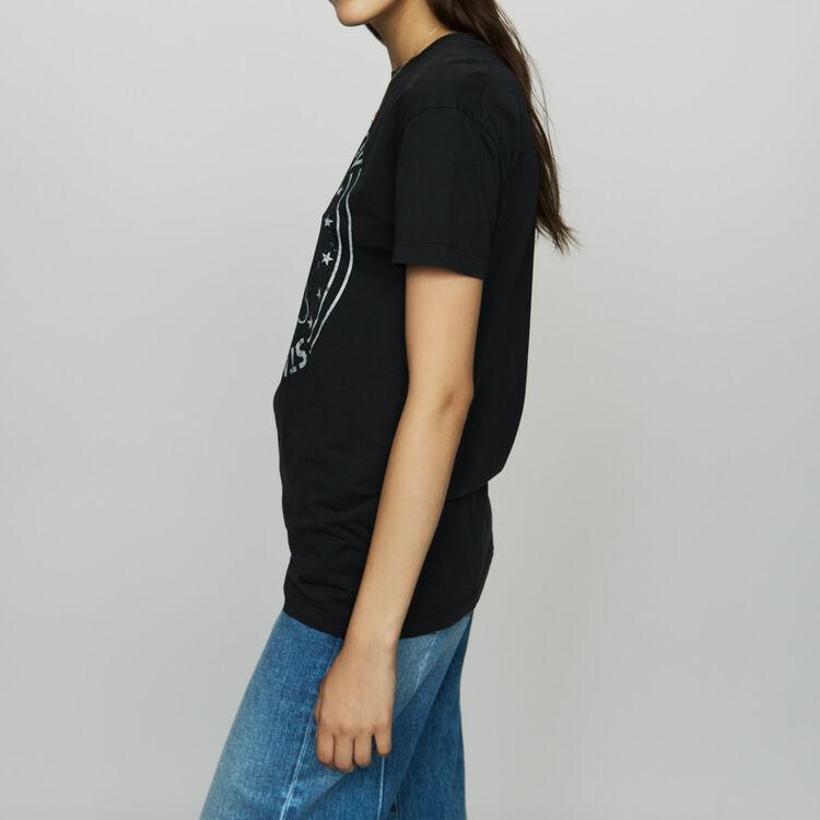 Bedrucktes Baumwoll-T-Shirt : T-Shirts farbe Weiss