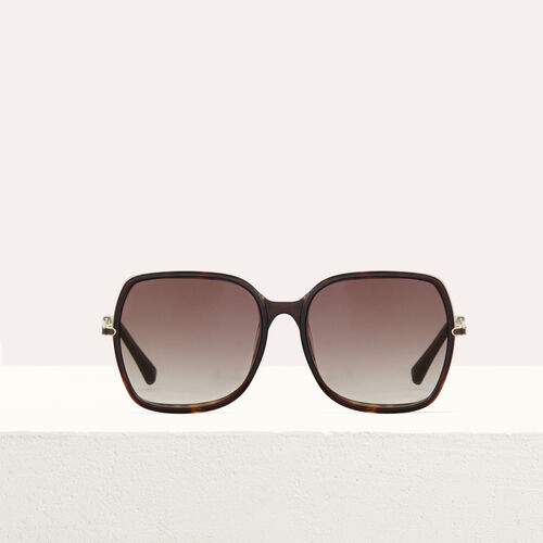Sonnenbrille aus Acetat und Metall : Brillen farbe Rosa