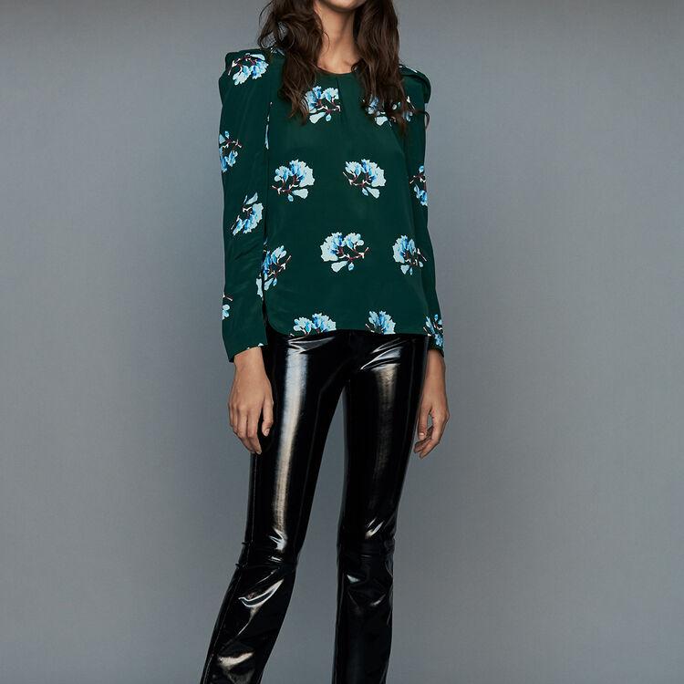 Bluse mit Blumen-Print : Tops farbe IMPRIME