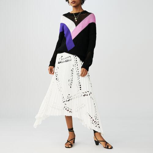 Oversize-Pullover mit Farbdetails : Strickwaren farbe Schwarz