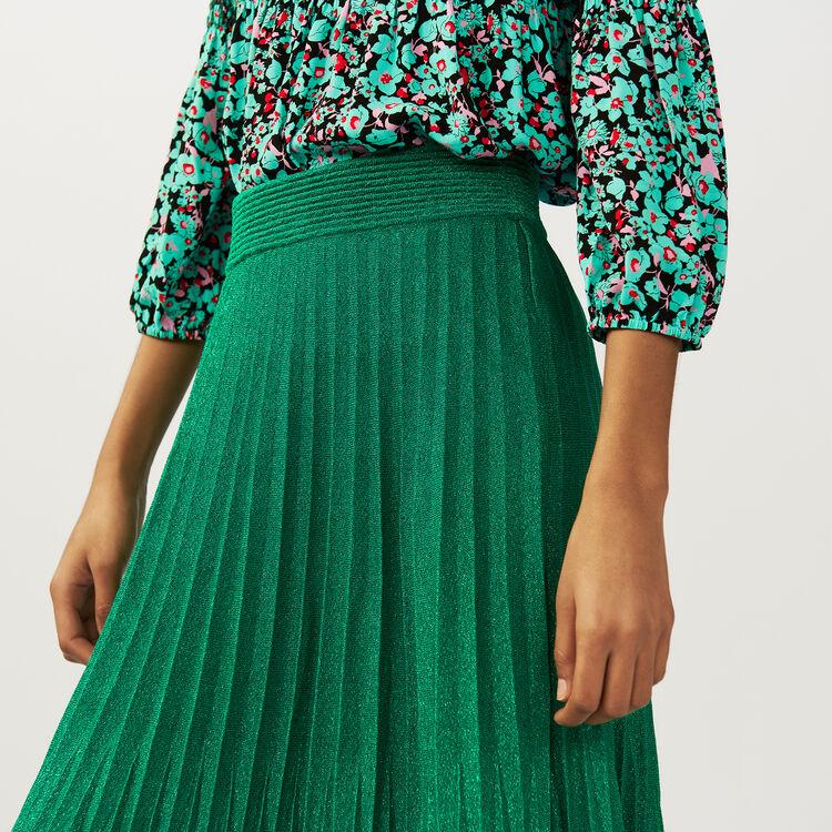 Langer Faltenrock : Röcke & Shorts farbe VERT