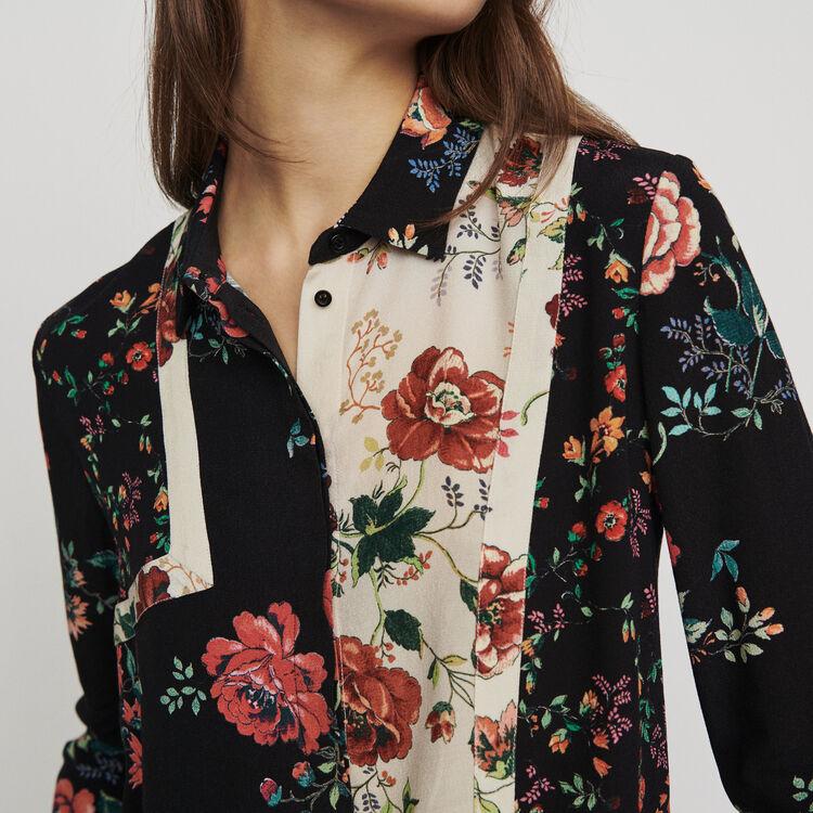 Bedruckte Bluse mit Patchwork : Tops & Hemden farbe IMPRIME