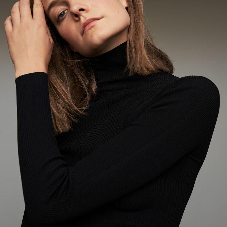 Schlauchpullover mit Rollkragen : Strickwaren farbe Schwarz