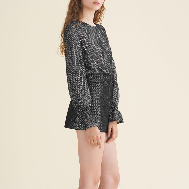 Combishorts aus Tüll und Lurex : Röcke & Shorts farbe Silber