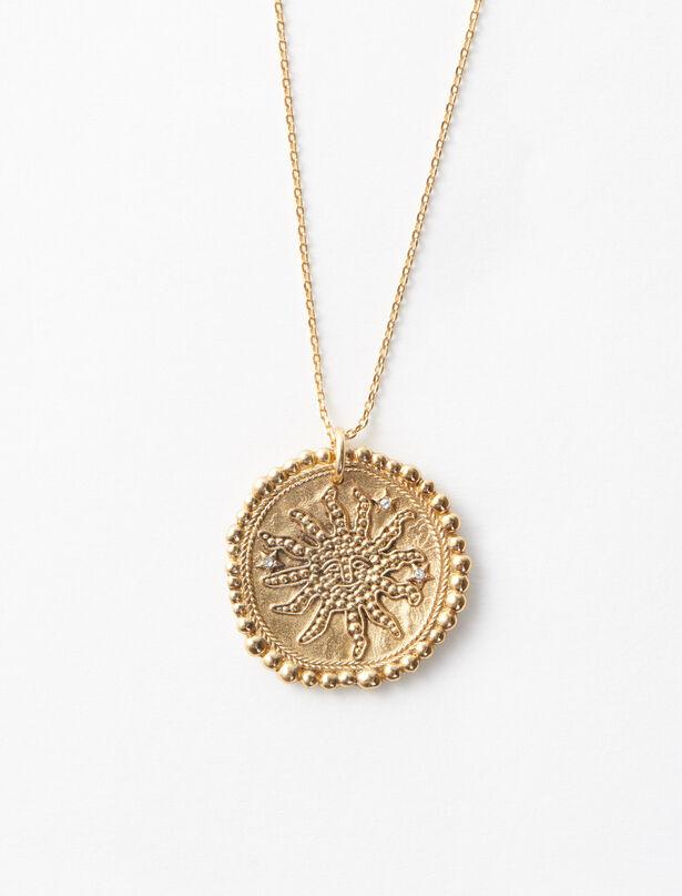 마쥬 MAJE Sonne Halskette,Antik Messing
