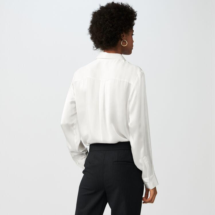 Bluse aus Seidensatin : Tops & Hemden farbe Terracotta