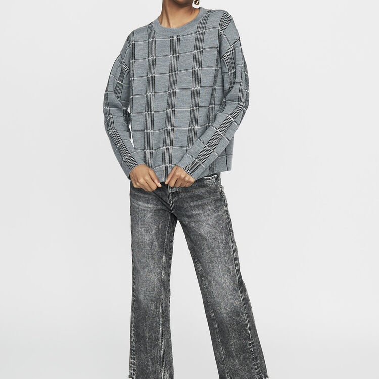 Oversize-Pullover aus Jacquard-Strick : Bekleidung farbe CARREAUX
