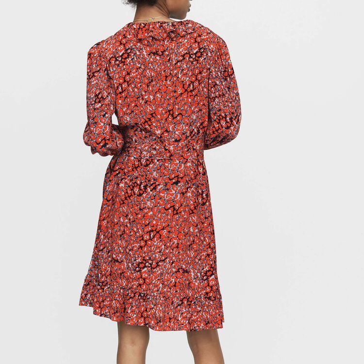 Wickelkleid mit Leoparden-Print : Kleider farbe IMPRIME